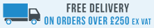 Free delivery on orders over £250 ex vat